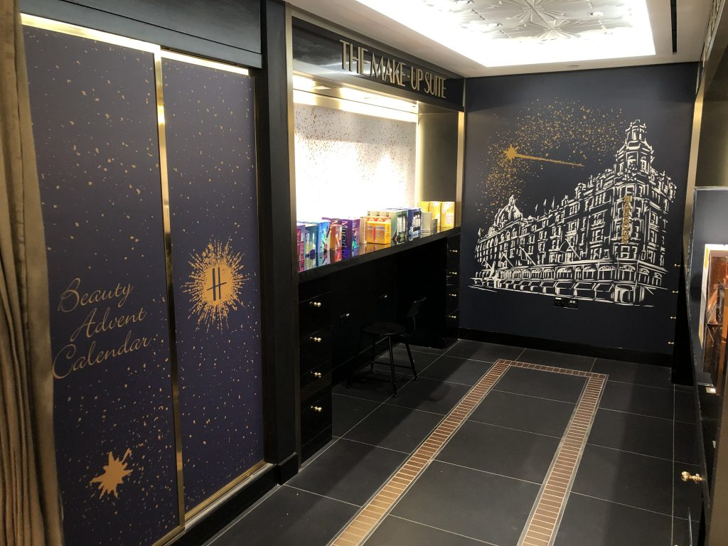Wall vinyl installed by lick and stick graphics in harrods